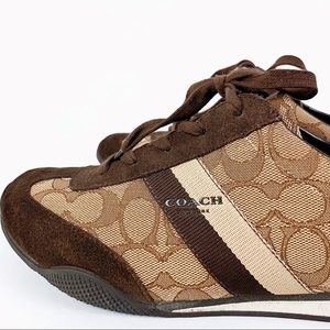 "COACH signature brown ""Kelson"" sneakers"